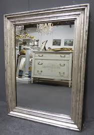 silver louis philippe antique french mirror