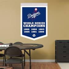 Los Angeles Dodgers World Series Champions Banner Real Big Fathead Wall Graphic Los Angeles Dodgers Wall Decal Sports Wall Decals Man Cave Home Bar Dodgers