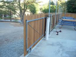 Wood Fence Rolling Gate Woodsinfo