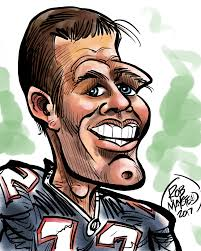 tom brady with images caricature