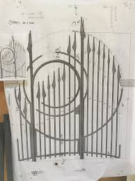 Gate Design Before And After Jefferson Mack Metal Exquisite Hand Forged Metalwork