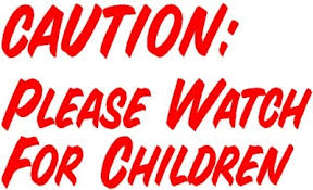 Caution Watch For Children Decal For Your Ice Cream Truck