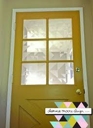 faux etched glass with contact paper