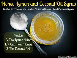 lemon cough syrup with coconut oil