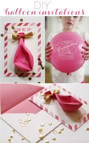 Diy Balloon Invitations Invitaciones De Fiesta Invitaciones Y