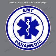 Emt Paramedic Star Of Life Ems Bumper Sticker Vinyl Window Decal