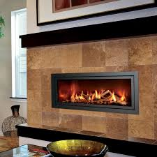 mendota modern gas linear fireplace