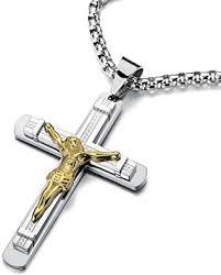 crucifix cross pendant mens