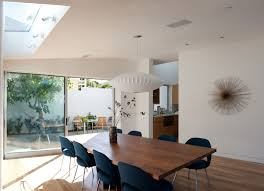 glass sliding doors in the dining room