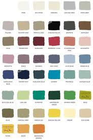 chalk paint sample board colors all