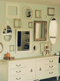 thrifted frame mirror wall home