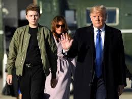 Trump's son Barron is really tall ...