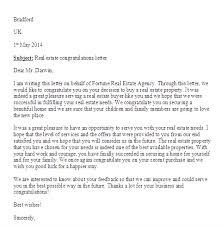 real estate congratulations letter