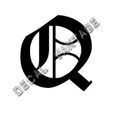 Dv Old English Q Letter Initial Vinyl Sticker Decal Font Diploma Choose Size Color