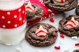 double chocolate peppermint kisses