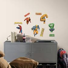 Superhero Wall Decals Color Strangetowne Easy And Fun Superhero Wall Decals