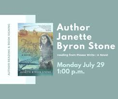 Author Reading with Janette Byron Stone - Camrose Public Library