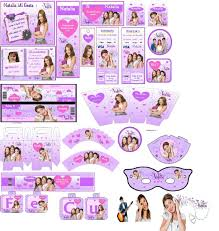 Dos Kit Imprimibles Violetta Totalmente Personalizables 150 00