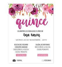 Invitacion Xv Anos Flores Invitaciones Digitales Invitaciones