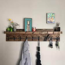coat rack with shelf entryway organizer
