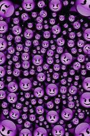 cute emoji purple wallpaper iphone