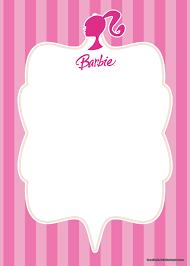 Free Printable Barbie Invitation Templates Bagvania En 2020 Con
