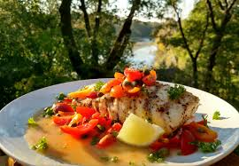 Grilled Halibut with Caper Butter ...