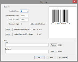barcode for your food label