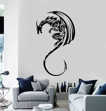 Vinyl Wall Decal Dragon Mythological Animal Claws Tail Stickers Mural Wallstickers4you