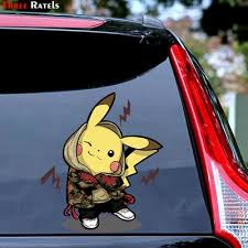 Buy Pikachu Sticker Car At Affordable Price From 3 Usd Best Prices Fast And Free Shipping Joom