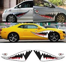 Decal Stickers Waterproof Car Shark Mouth Teeth Pvc Fashion Attractive Car Stickers Aliexpress