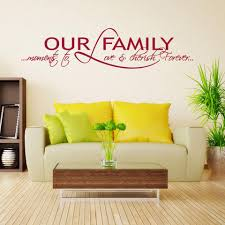 Our Family Wall Decal Quote Style And Apply