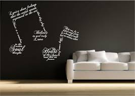 Music Note Symbols Wall Art Sticker Quote Decal Transfer Mural Stencil Wsd407 Ebay Music Wall Decal Music Wall Stickers Music Wall Art