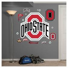 8 Inch Basketball Logo Osu Ohio State University Buckeyes Removable Wall Decal Sticker Art Ncaa Home