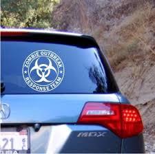 Zombie Outbreak Response Team Vinyl Decal Sticker Texas Die Cuts