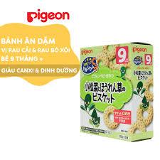 Bánh ăn dặm Pigeon cho bé vị Rau cải và Rau bó xôi