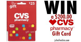 win a 200 cvs gift card julie s freebies