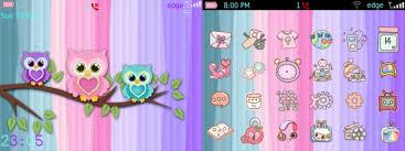 cute pink owl desktop wallpaper
