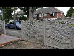 Decorative Concrete Fence Panels 3d1 Double Sided Youtube Concrete Decor Concrete Fence Panels Fence Panels