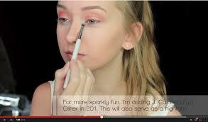 tangerine sparkles eye makeup tutorial