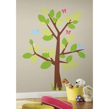 Roommates 18 In X 40 In Kids Tree 47 Piece Peel And Stick Giant Wall Decal Rmk1554gm The Home Depot