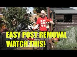 Quick Easy And Fast Fence Post Removal Youtube