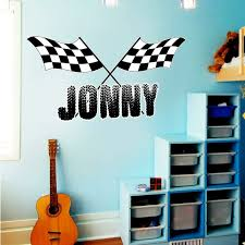 Zoomie Kids Mayer Racing Personalized Wall Decal Wayfair
