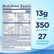 nutrition shake with 13 grams