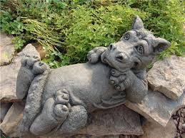 garden statue mythical cast stone