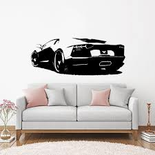 Sport Car Vinyl Wall Sticker Art Modern Fashion Style For Childrens Room Kids Rooms Stickers On The Wall Boys Bedroom Decor Decorative Stickers For Walls Decorative Vinyl Wall Decals From Onlinegame 9 86