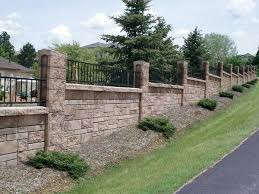 Allan Block Photo Gallery Photos Of Retaining Walls Patio Walls Privacy Fences And More Backyard Fences Fence Design Garden Fence Panels