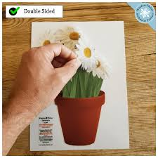 Daisies Potted Plant Potted Flowers Window Cling Window Flakes