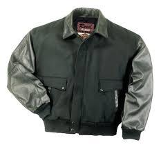 leather top varsity jacket