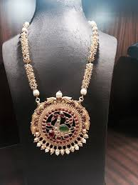 pearl long necklace design south
